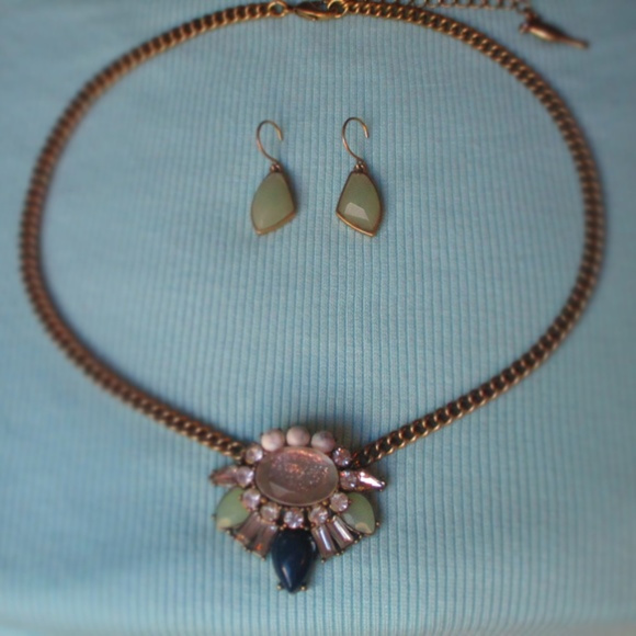 Chloe + Isabel Jewelry - Heritage Blossom Necklace + Gilded Reed Earrings